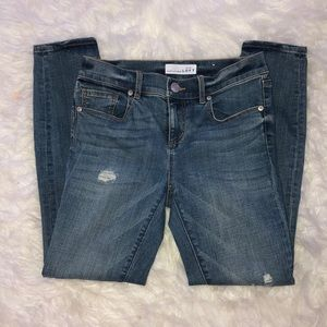 ANN TAYLOR MODERN SKINNY ANKLE JEANS